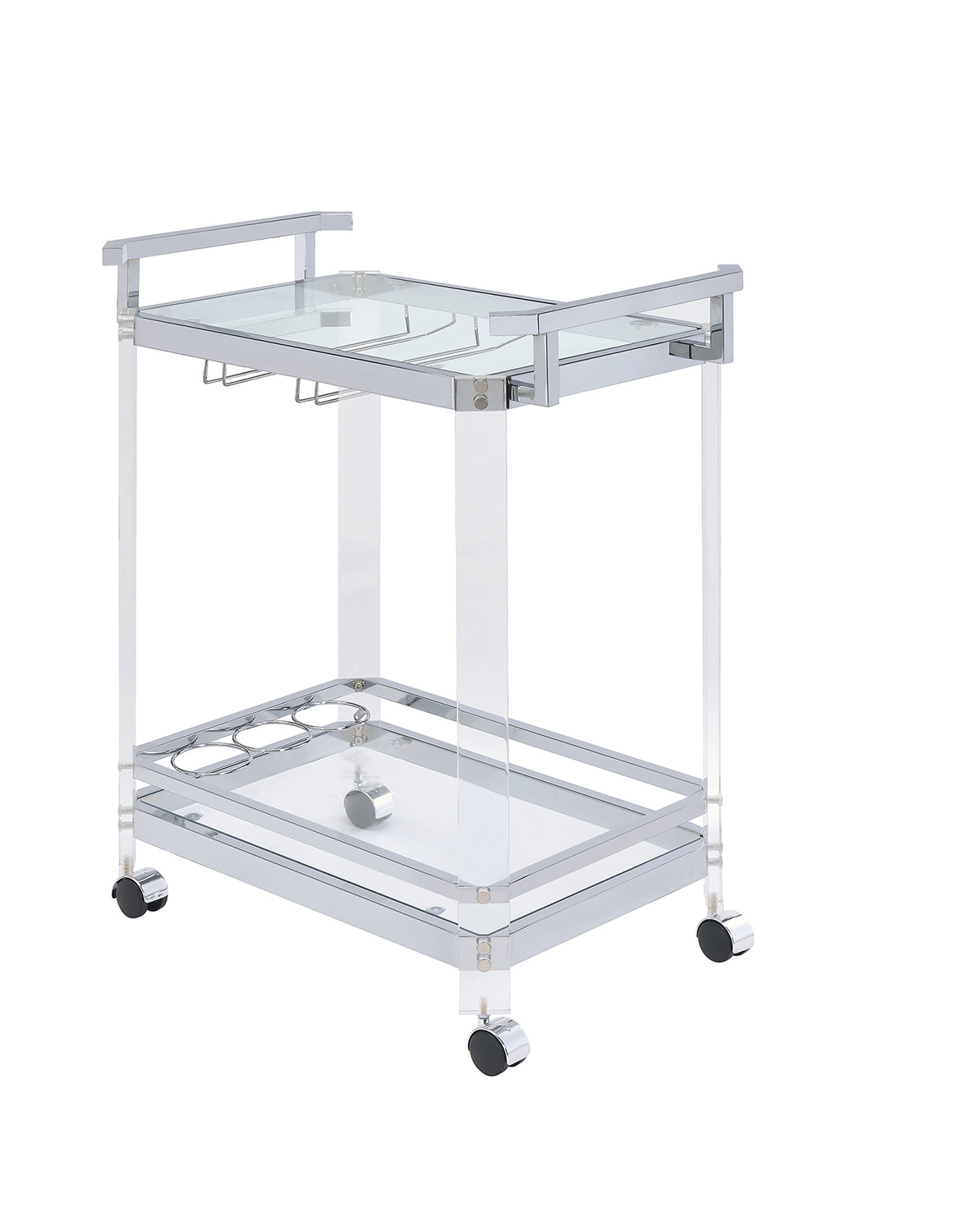 Coaster 902589 Serving Cart - Clear Acrylic/Chrome