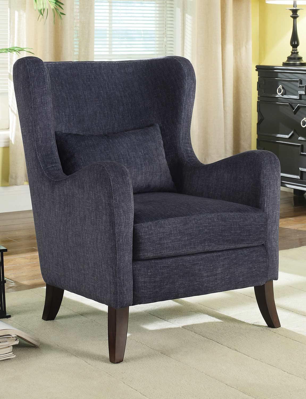 Coaster 902684 Accent Chair - Indigo