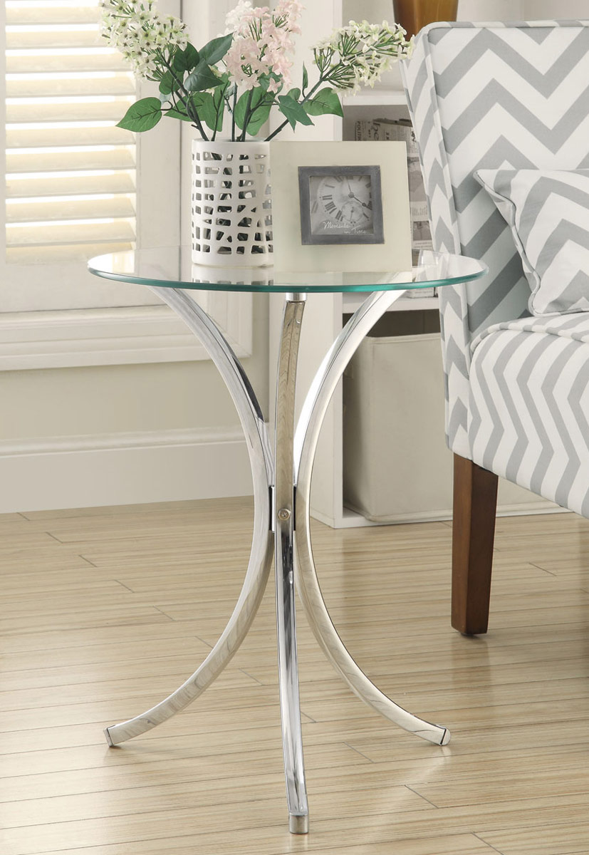 Coaster 902869 Snack Table - Chrome