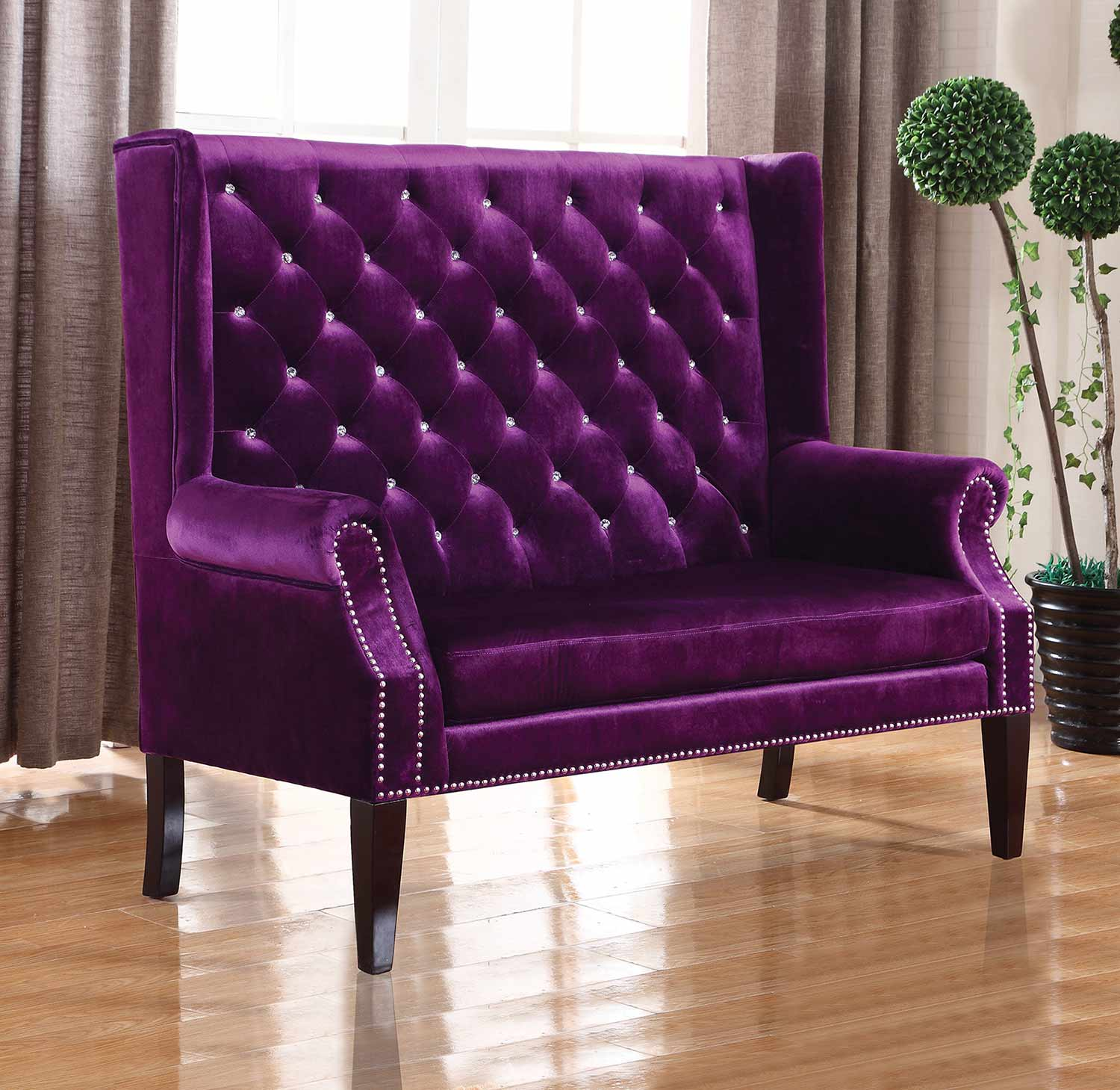 Coaster 902995 Settee - Purple