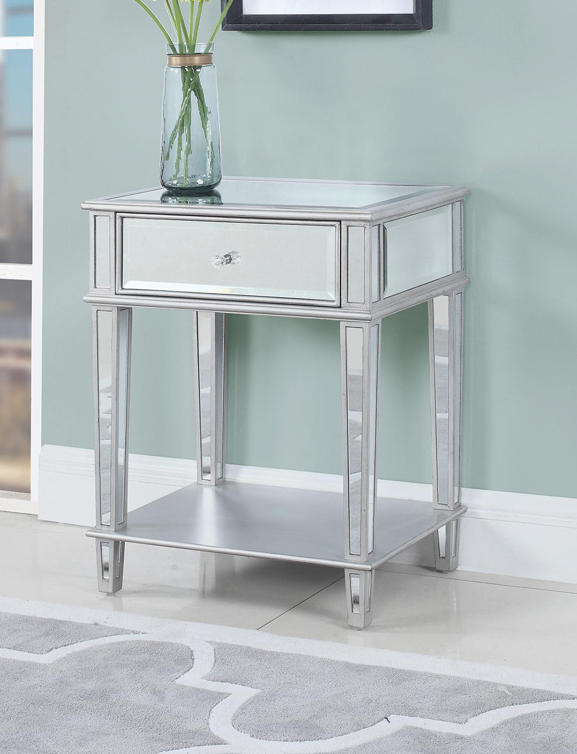 Coaster 904014 Accent Table - Clear Mirrror