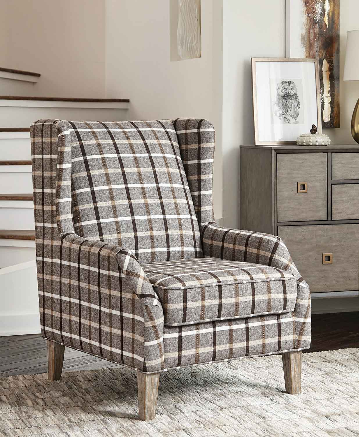 Coaster 904052 Accent Chair - Neutral Brown/Grey