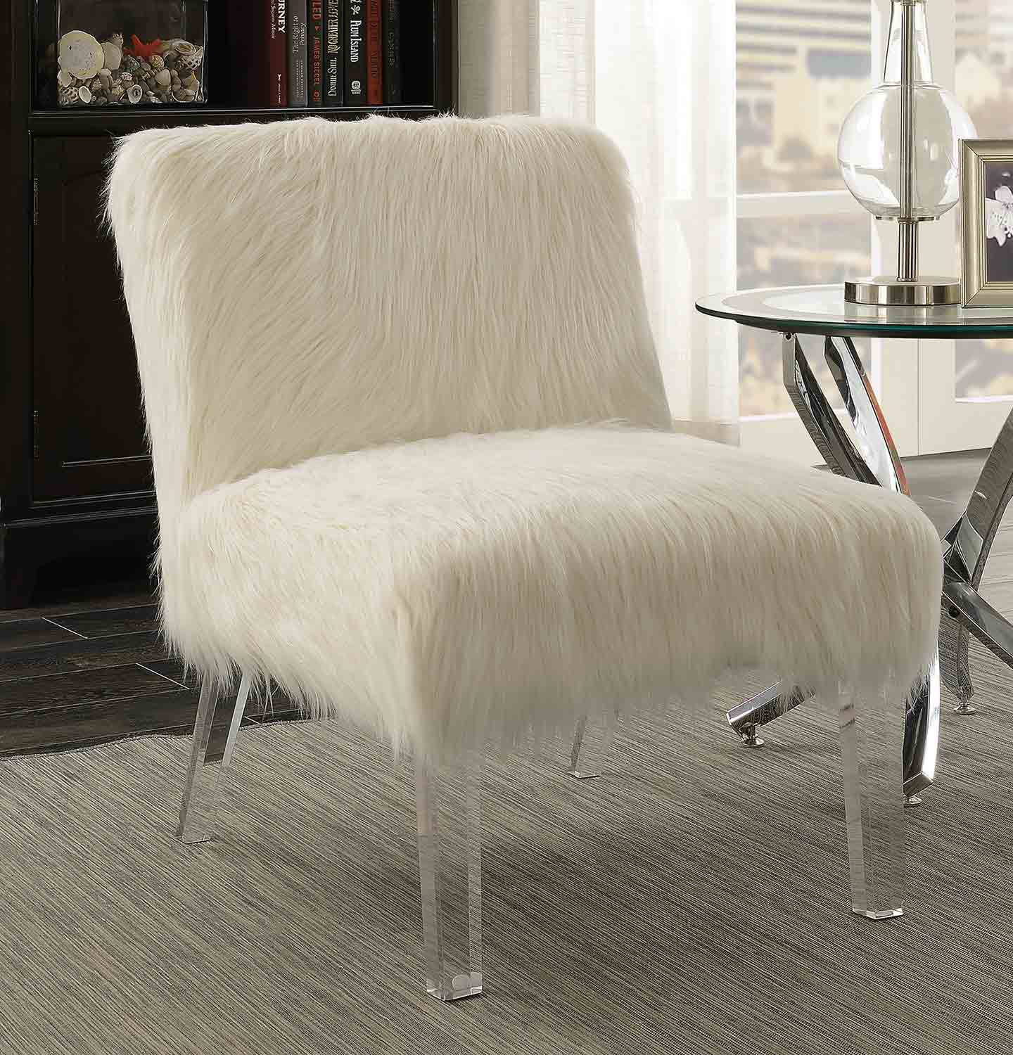 Coaster 904059 Accent Chair - White/Clear