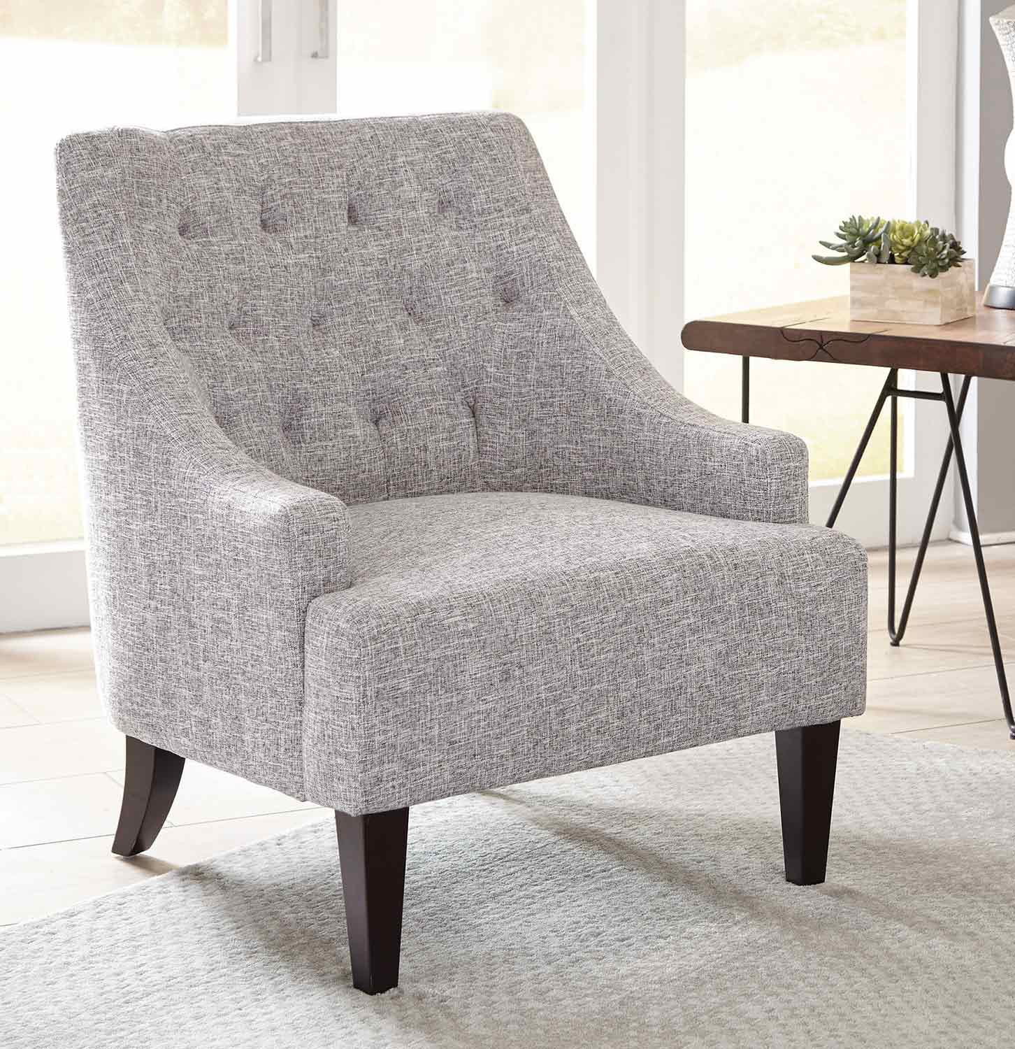 Coaster 904068 Accent Chair - Grey/Dark Brown