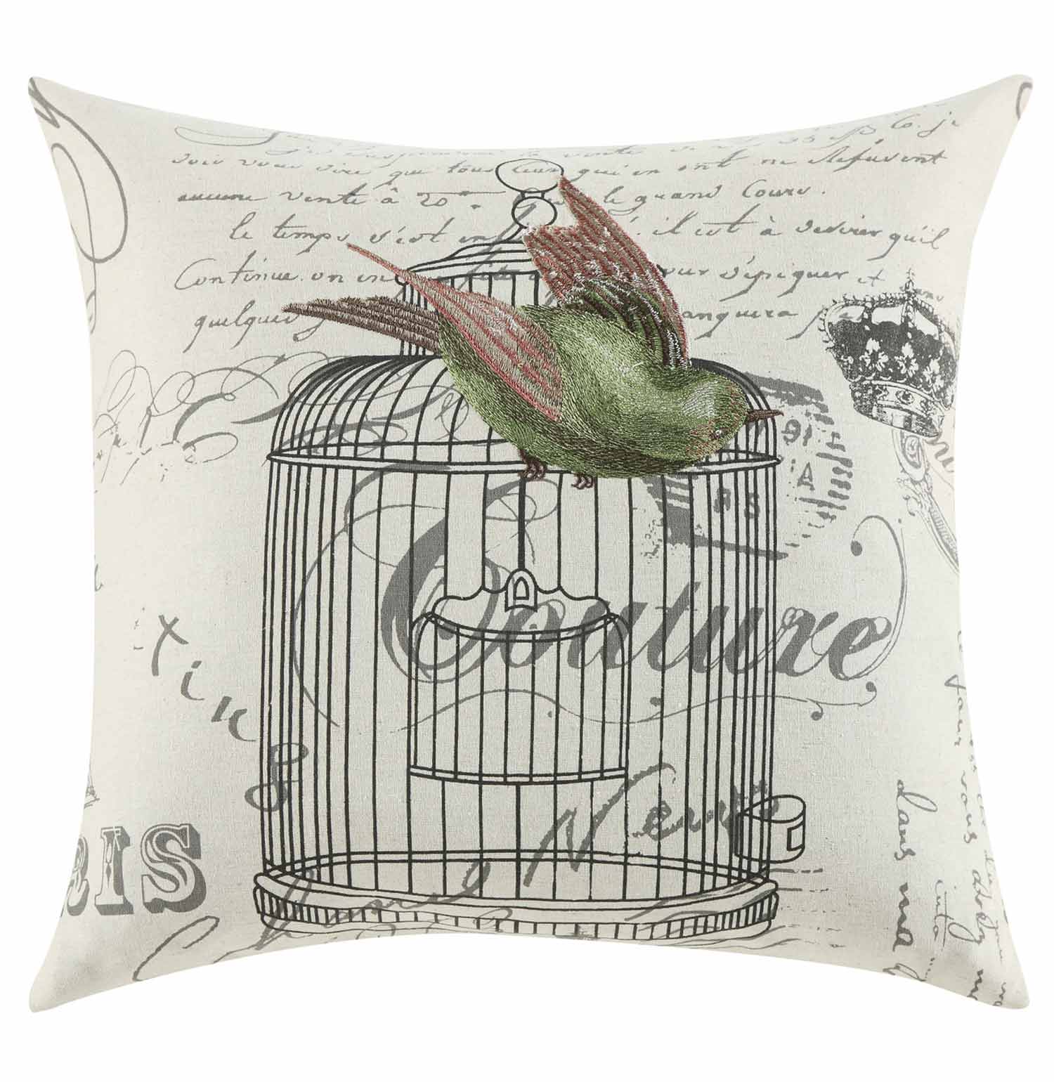 905069 Bird Cage Pillow