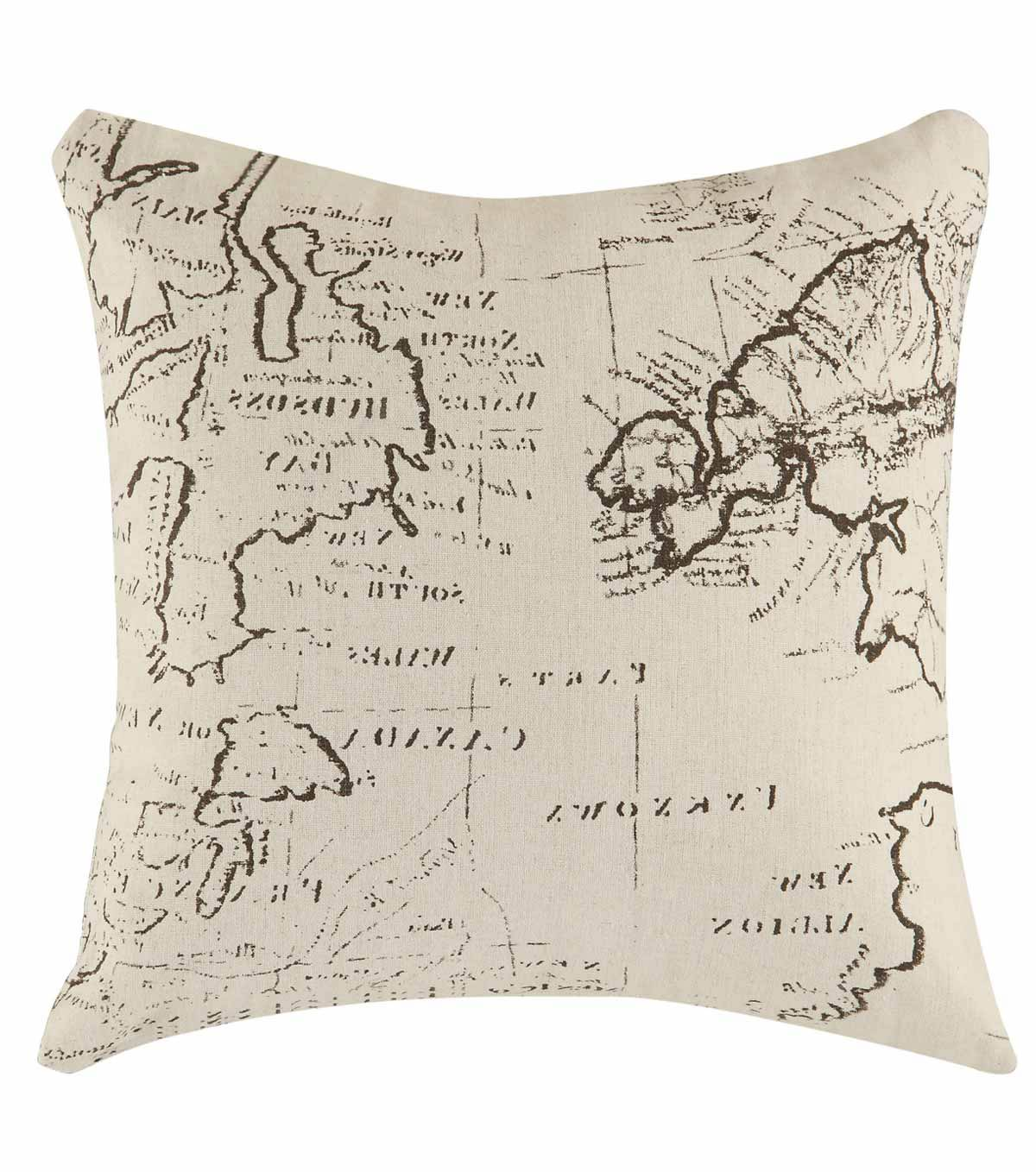905079 Map Pillow