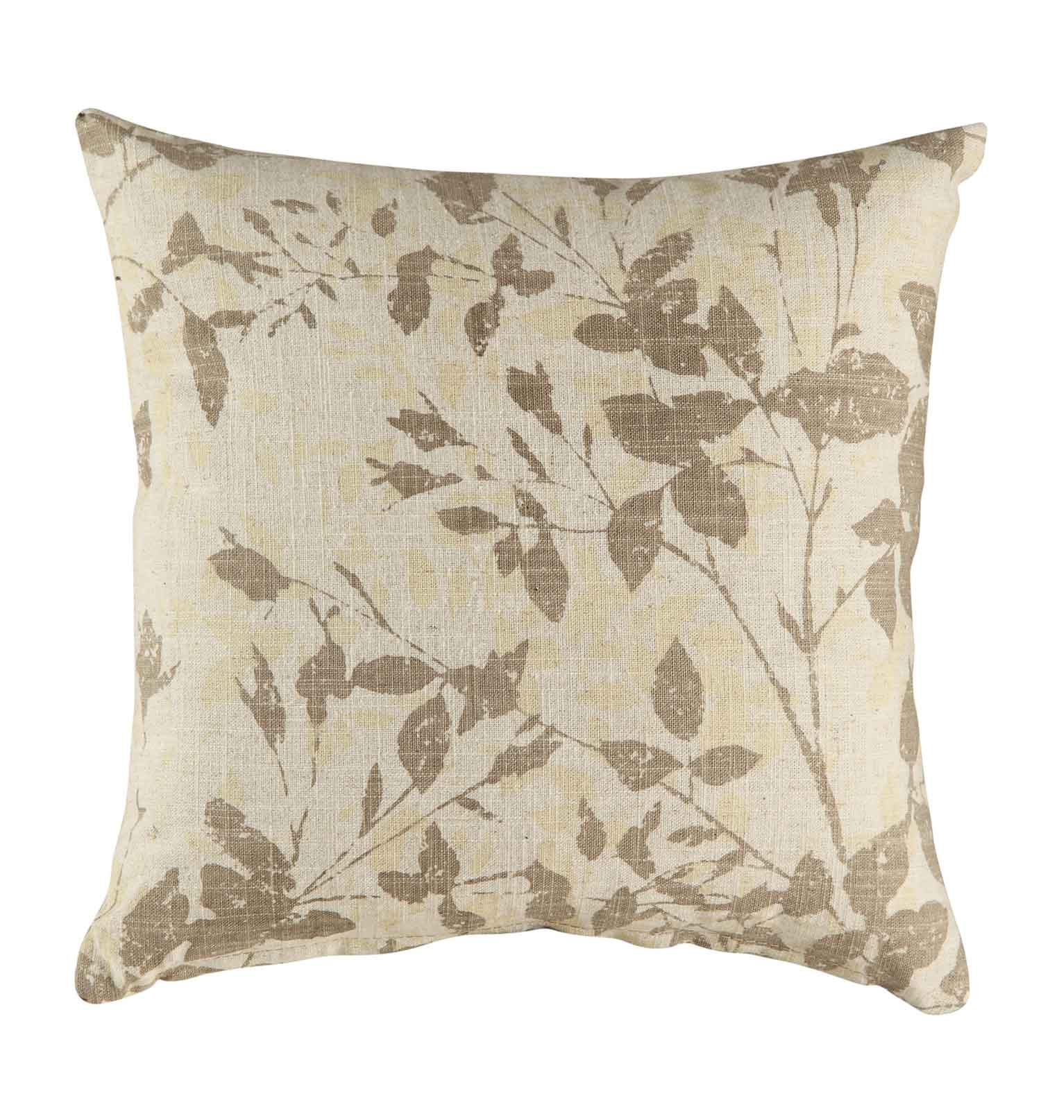 905081 Beige Leaves Pillow