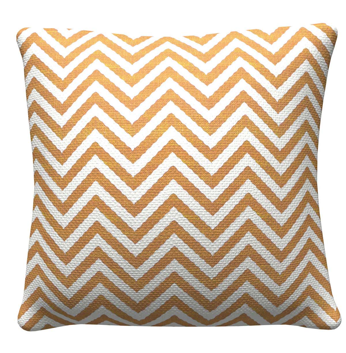 905310 Orange Chevron Pillow