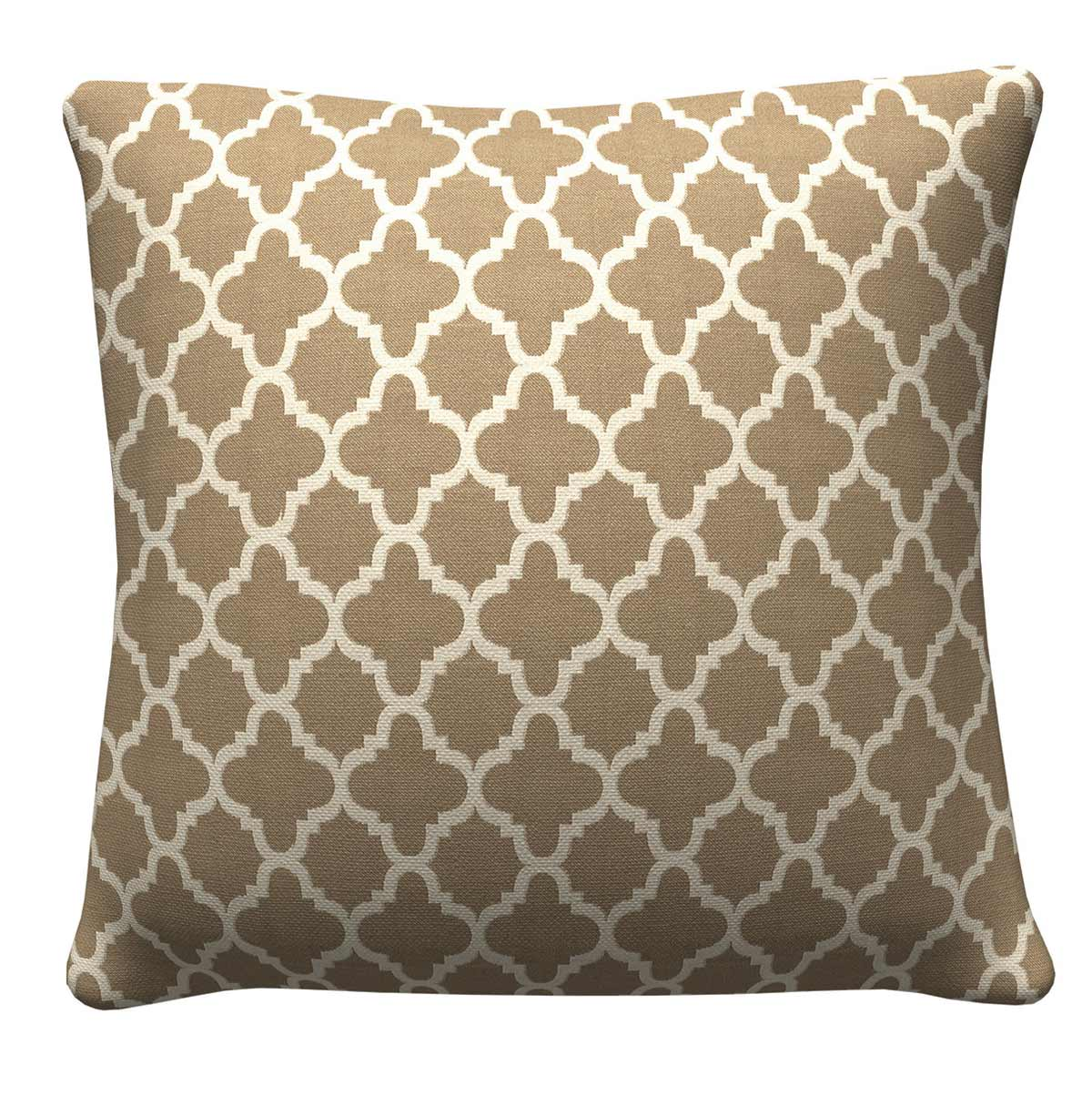 905313 Tan Quatrefoil Pillow