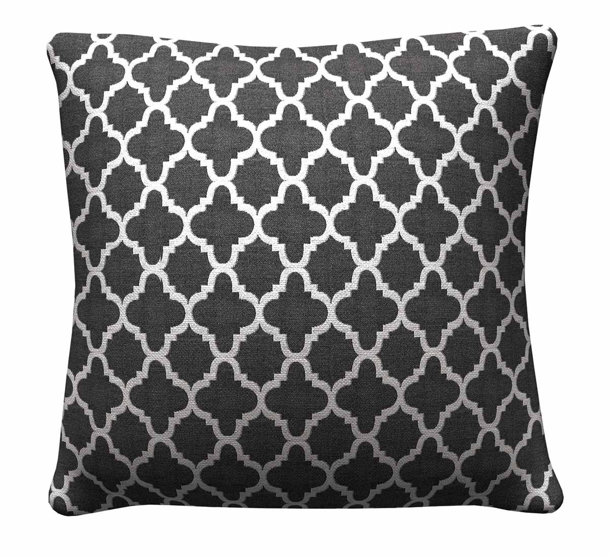 905314 Black Quatrefoil Pillow