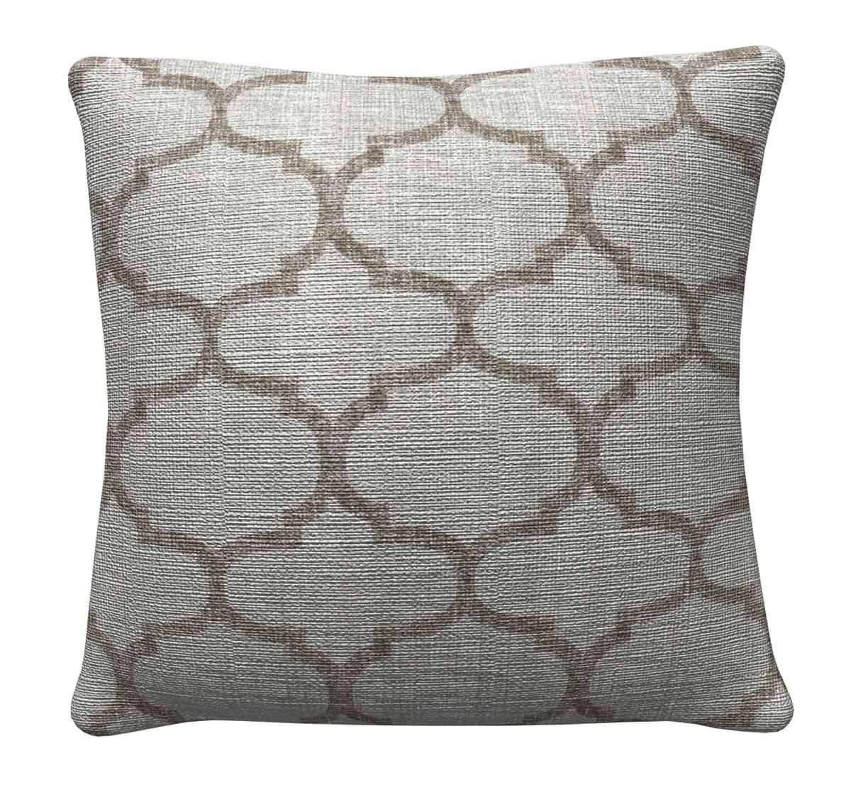905316 Grey Quatrefoil Pillow