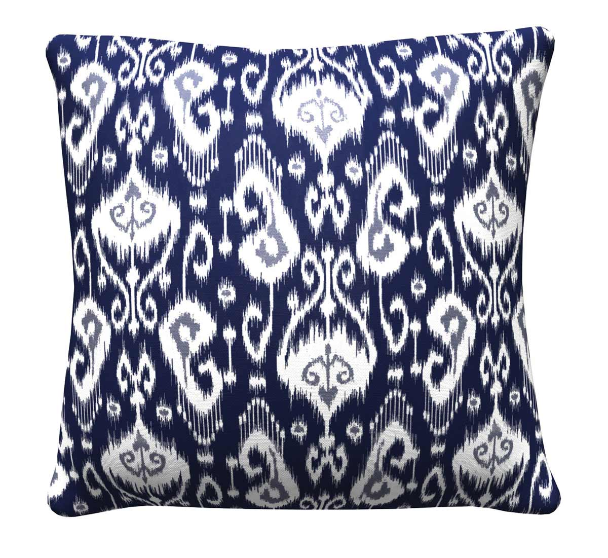 905320 Navy Ikat Pillow