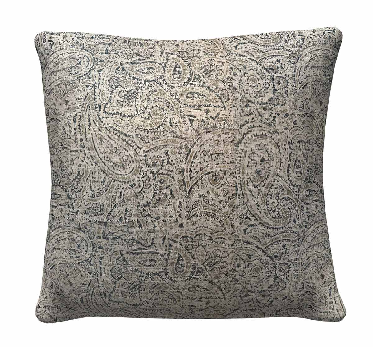 905322 Neutral Paisley Pillow