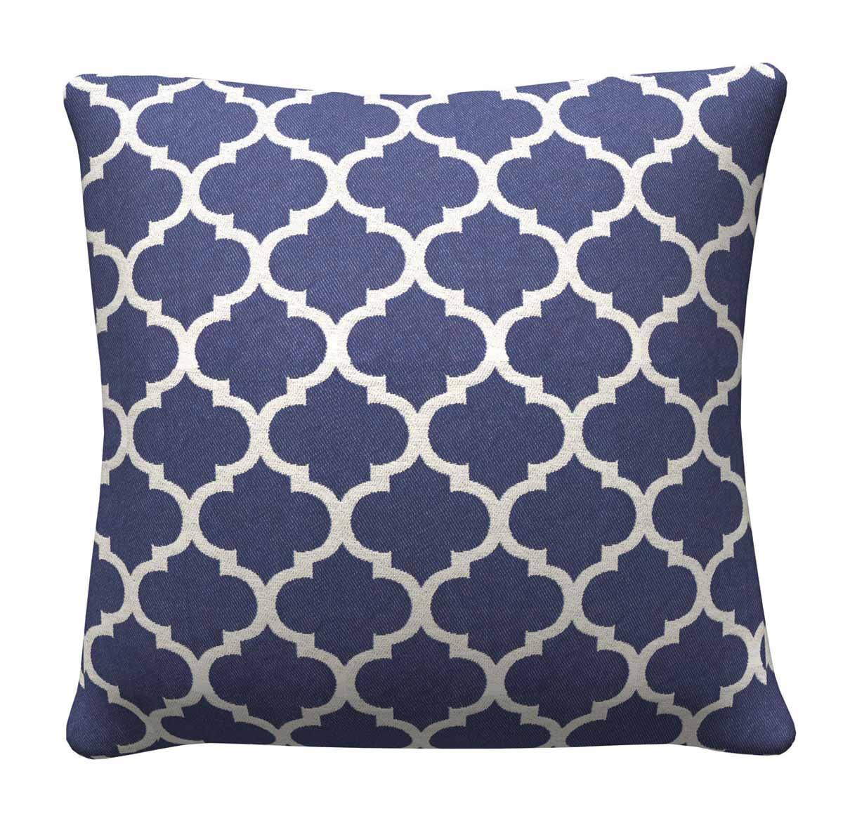 905323 Navy Quatrefoil Pillow