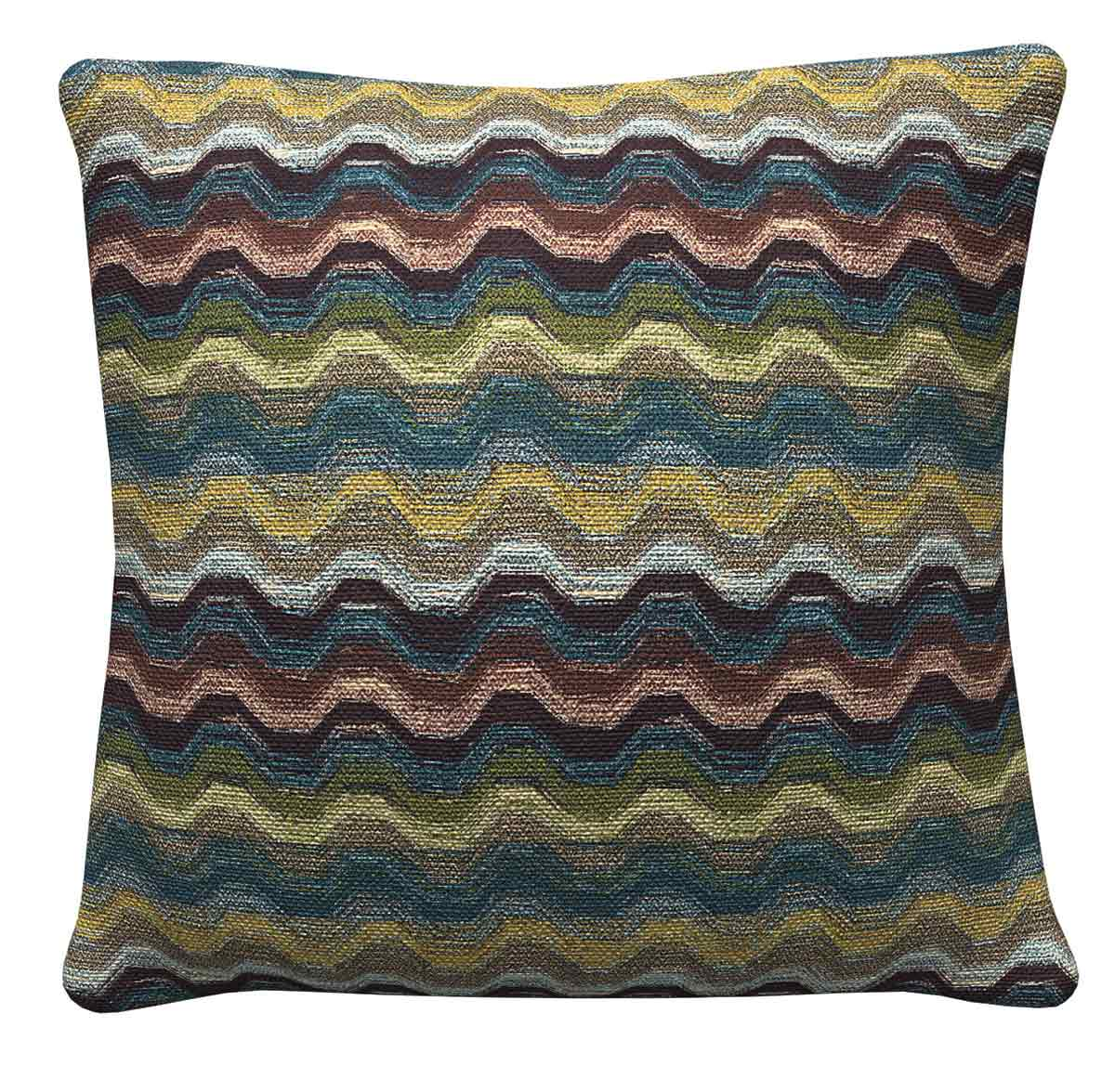 905324 Blue Green Wave Pillow