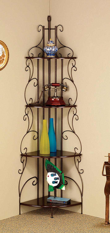 Coaster 910038 Corner Bookcase - Cappuccino