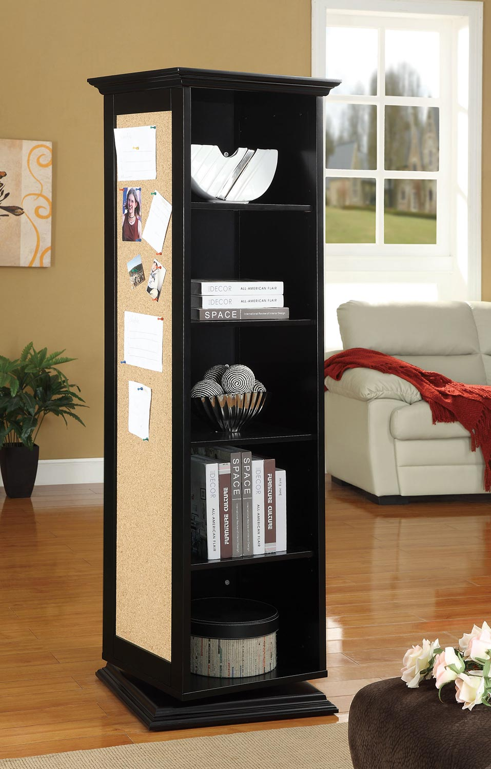 Coaster 910083 Swivel Cabinet - Black