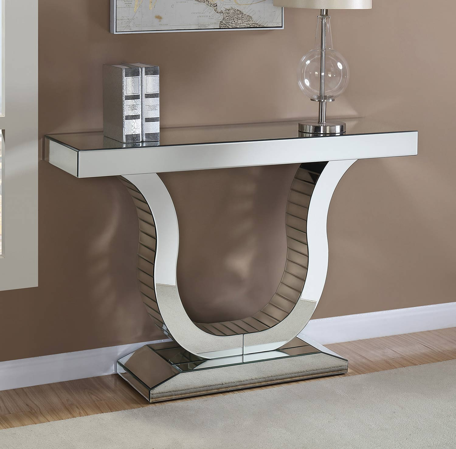 Coaster 930010 Console Table - Clear Mirror
