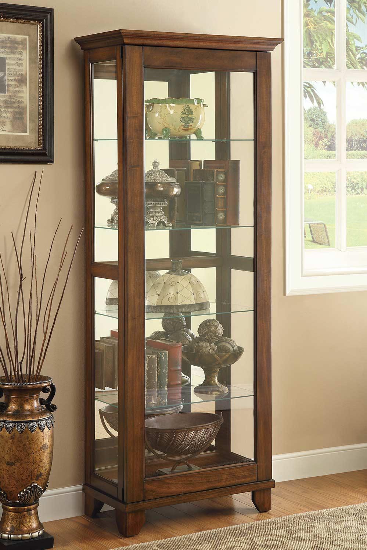 Coaster 950188 Curio Cabinet - Warm Brown