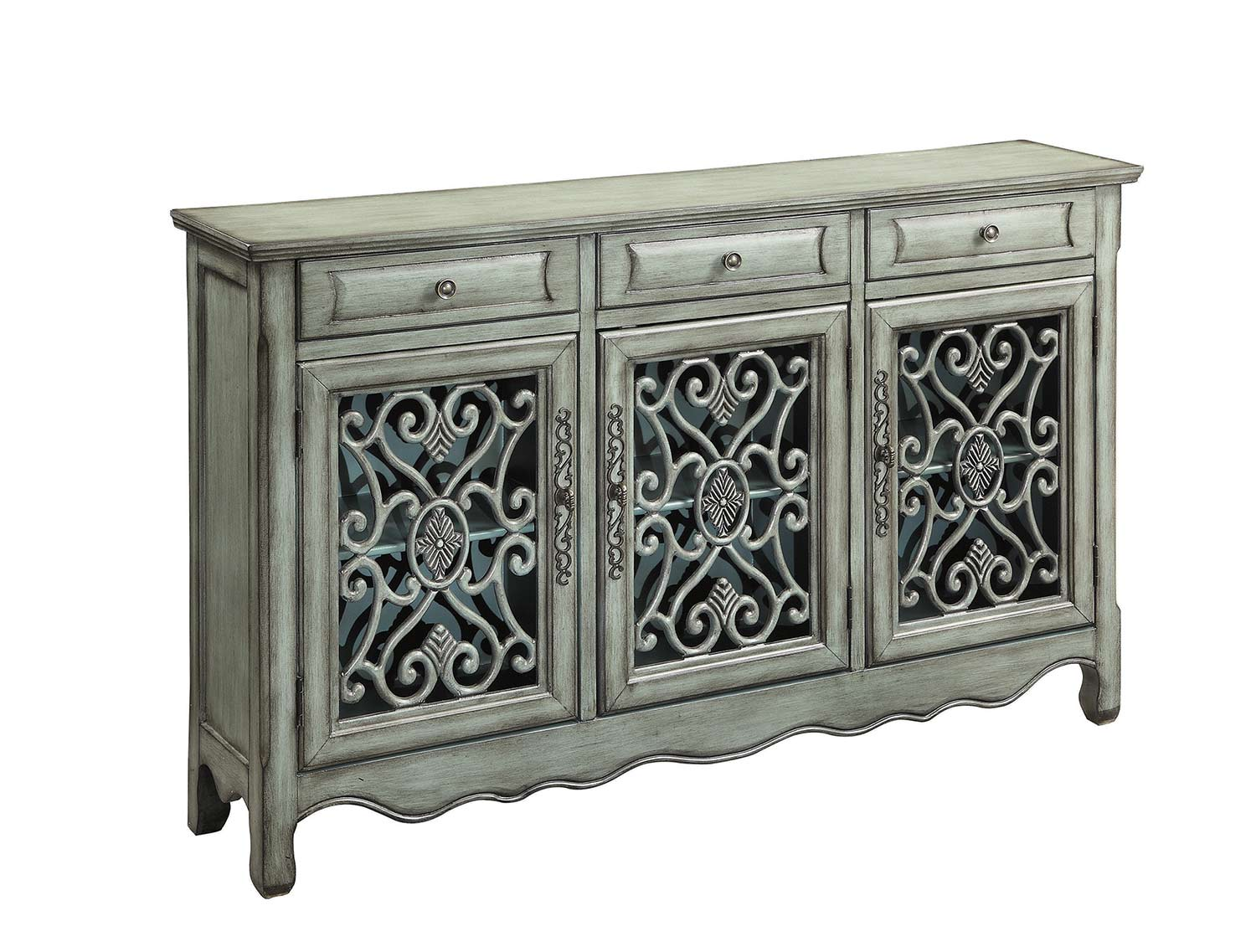 Coaster 950357 Accent Cabinet - Antique Green