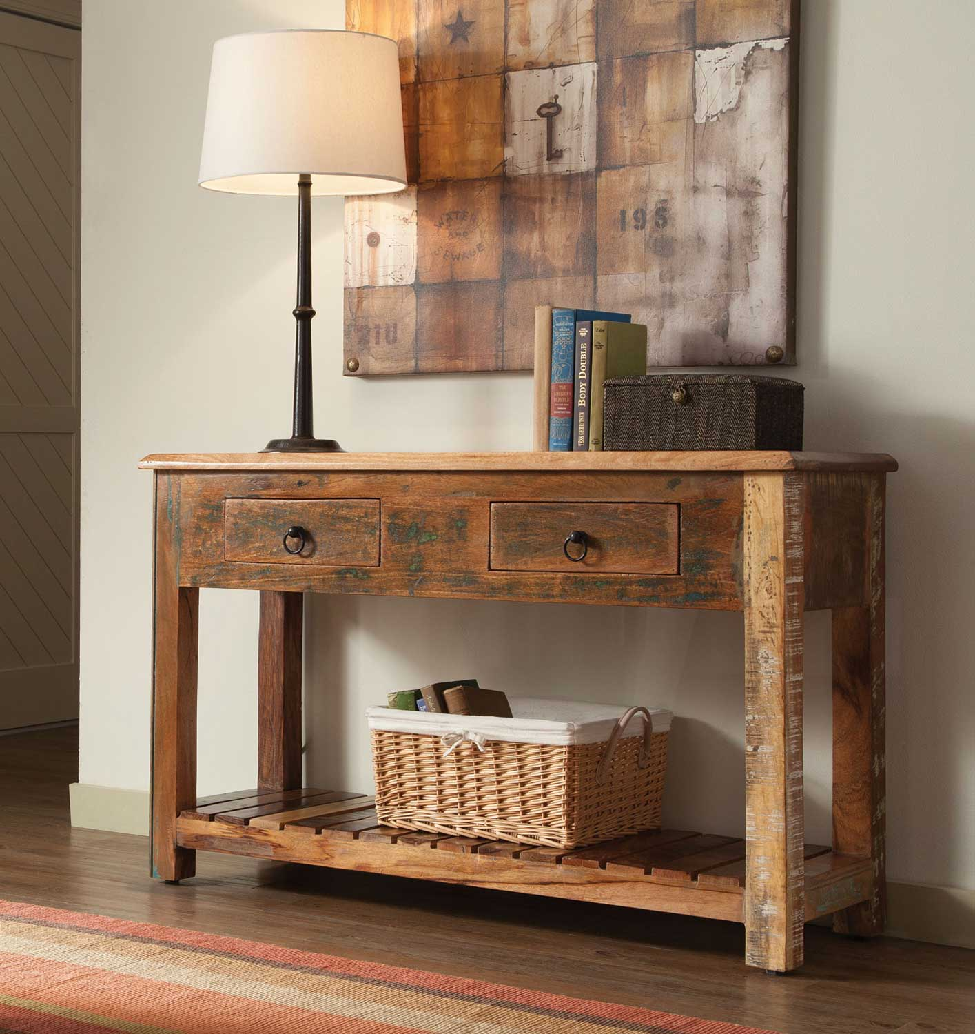 Coaster 950364 Console Table Reclaimed Wood 950364 At