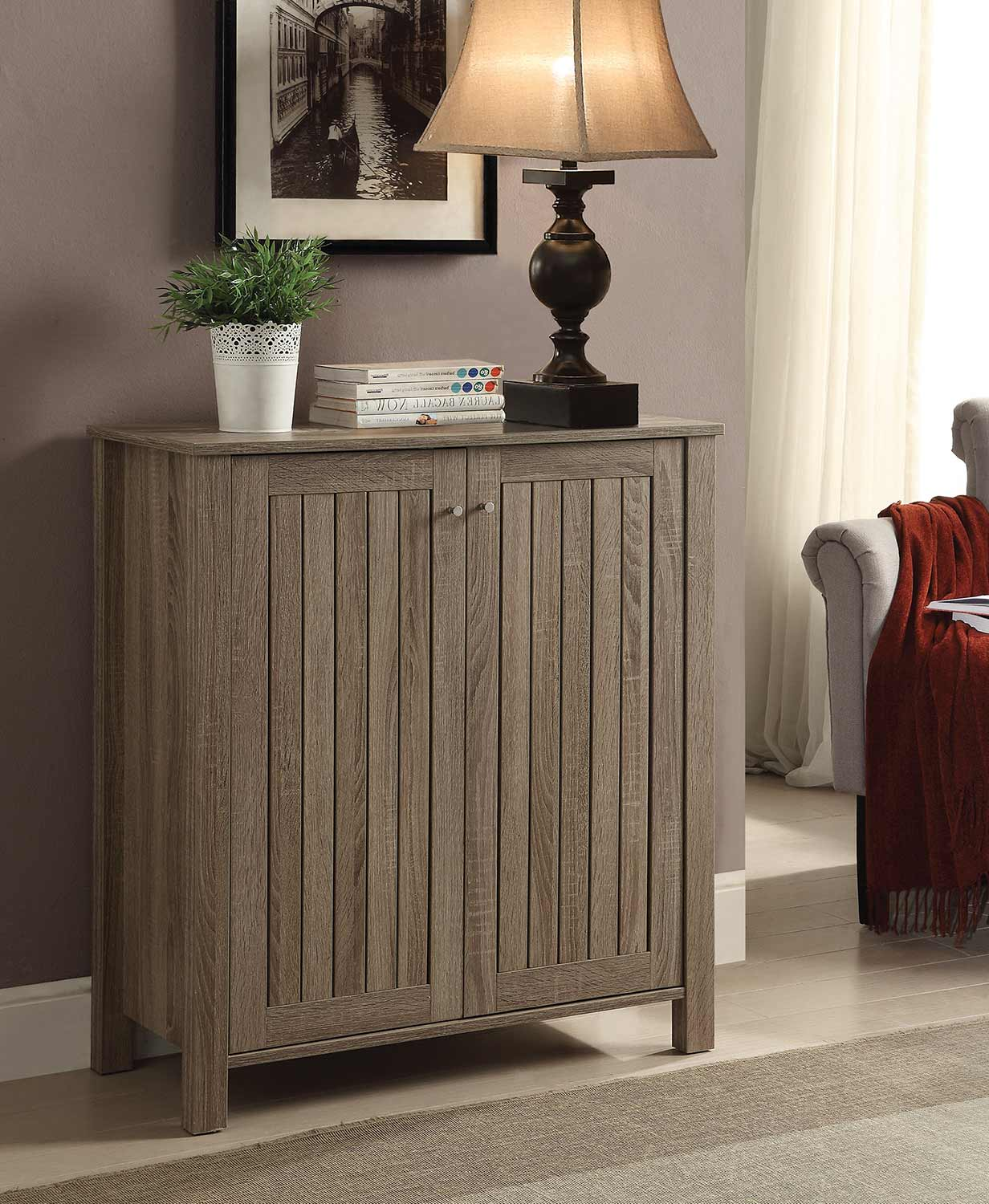 Coaster 950551 Shoe Cabinet - Dark Taupe