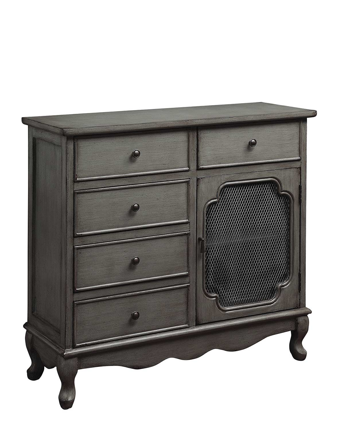 Ordinaire Coaster 950630 Accent Cabinet   Distressed Grey