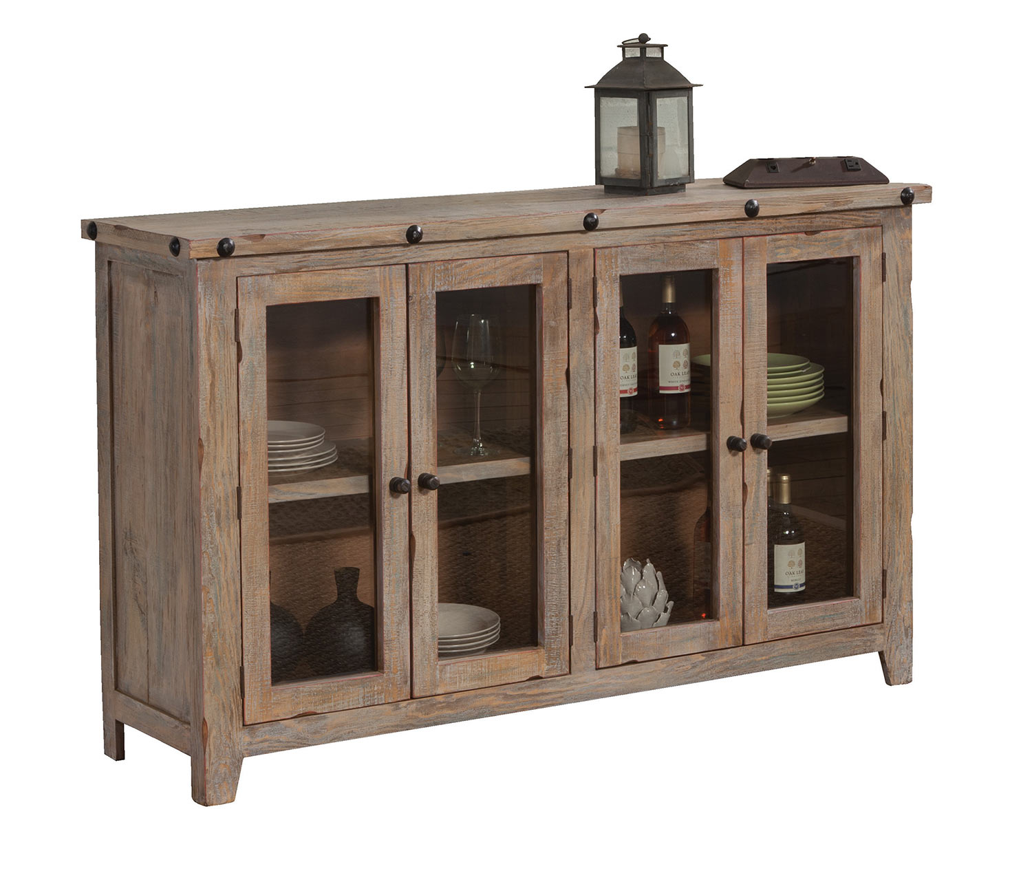 Coaster 950663 Accent Cabinet - Natural Rustic
