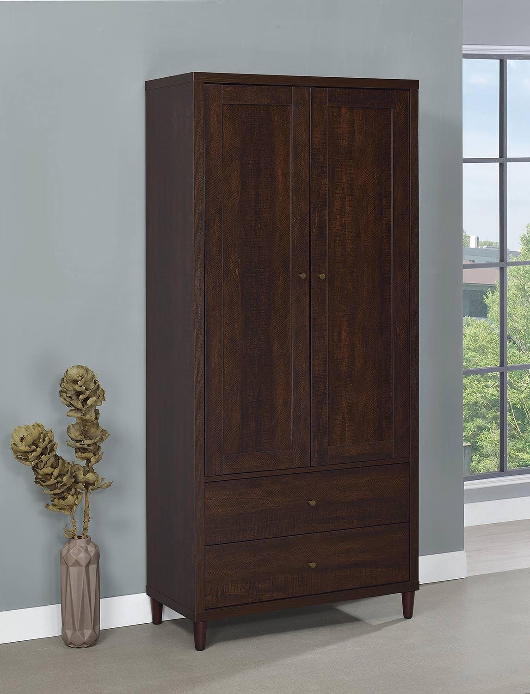 Coaster 950724 Tall Cabinet - Rustic Tobacco