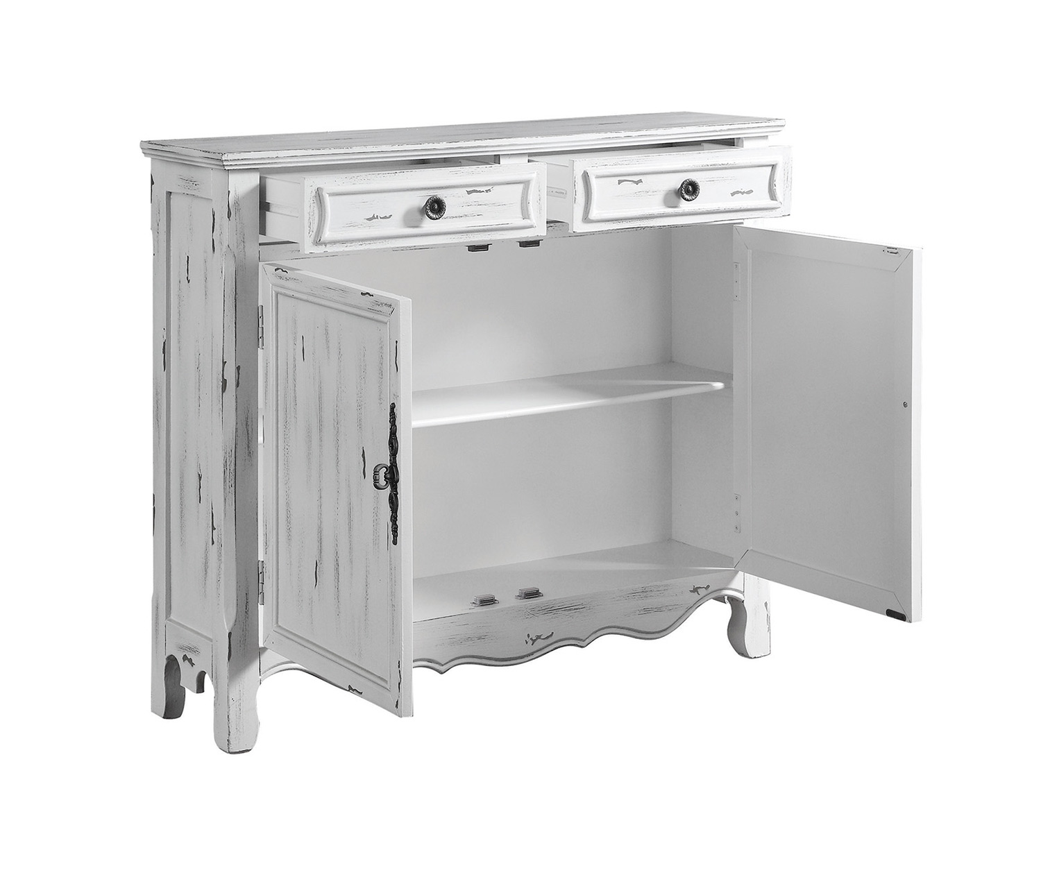 Coaster 950737 Accent Cabinet - Distressed White