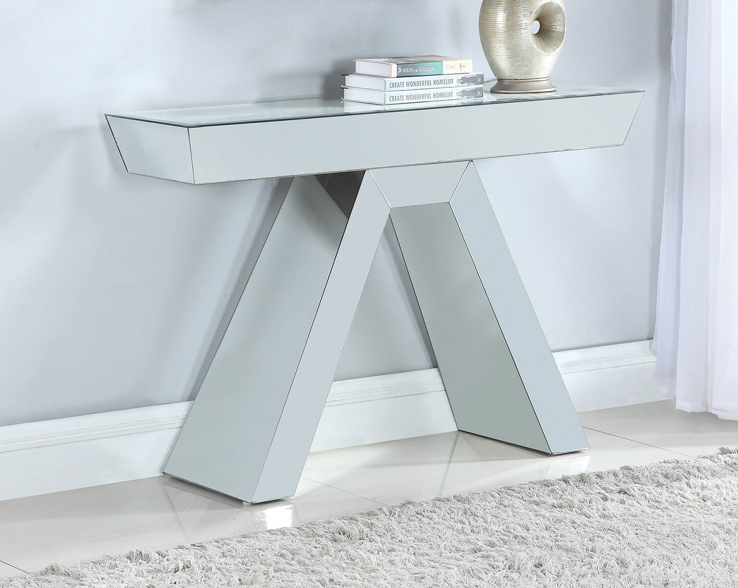 Coaster 950743 Console Table - Clear Mirror