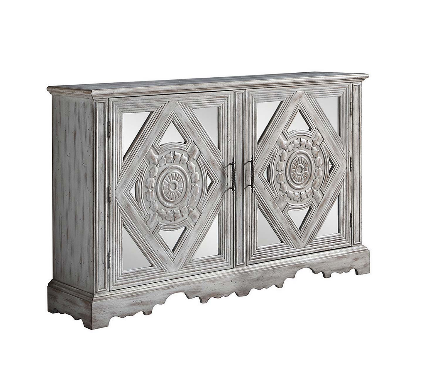 Superieur Coaster 950751 Accent Cabinet   Distressed Grey