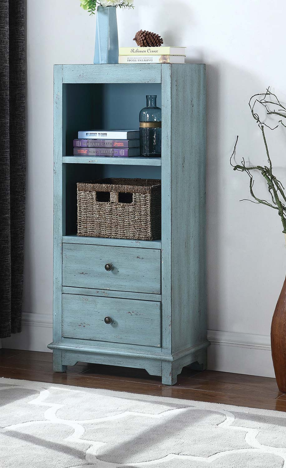 Coaster 950755 Tall Cabinet - Blue