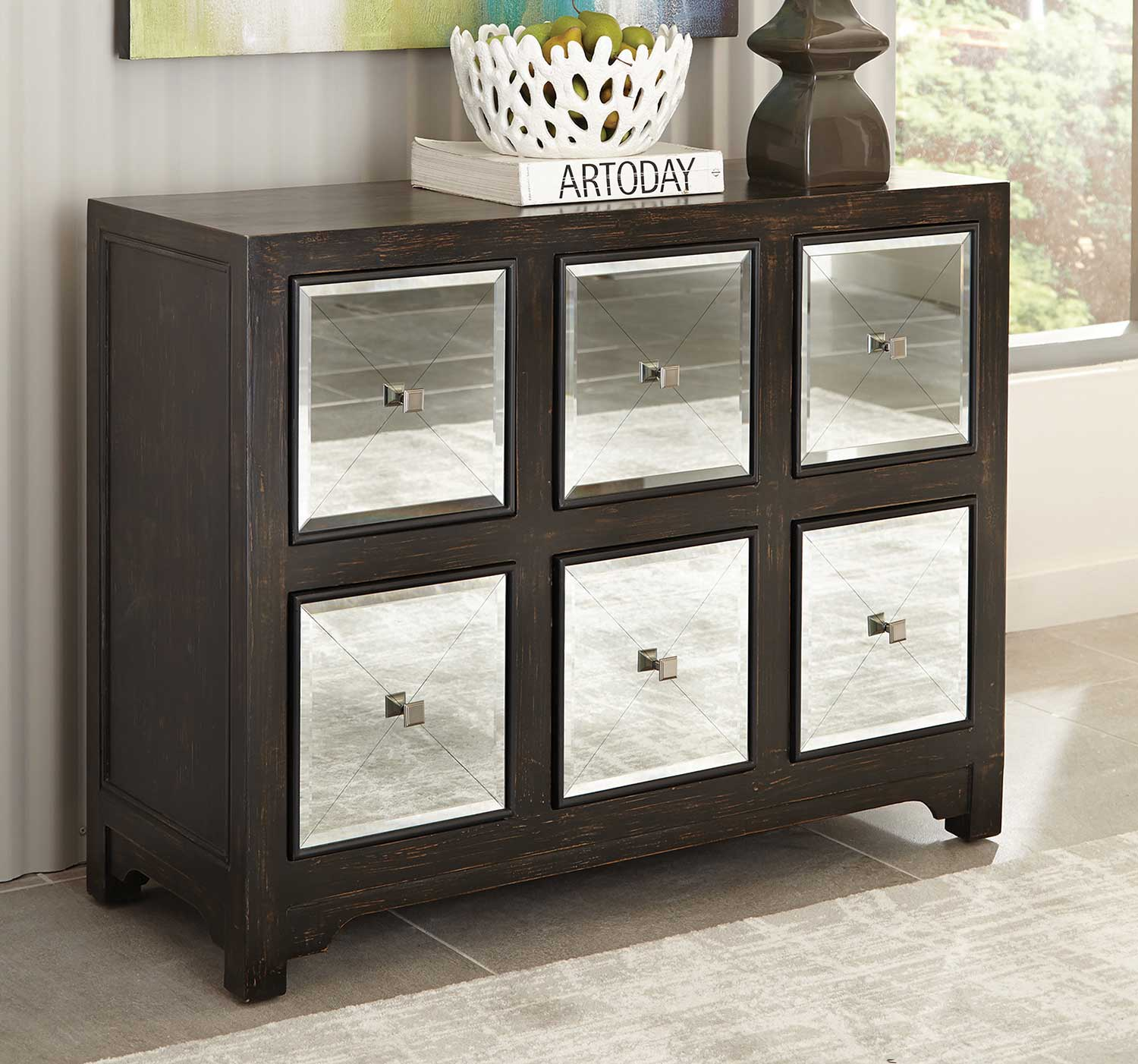 Coaster 950776 Accent Cabinet - Rustic Brown/Silver