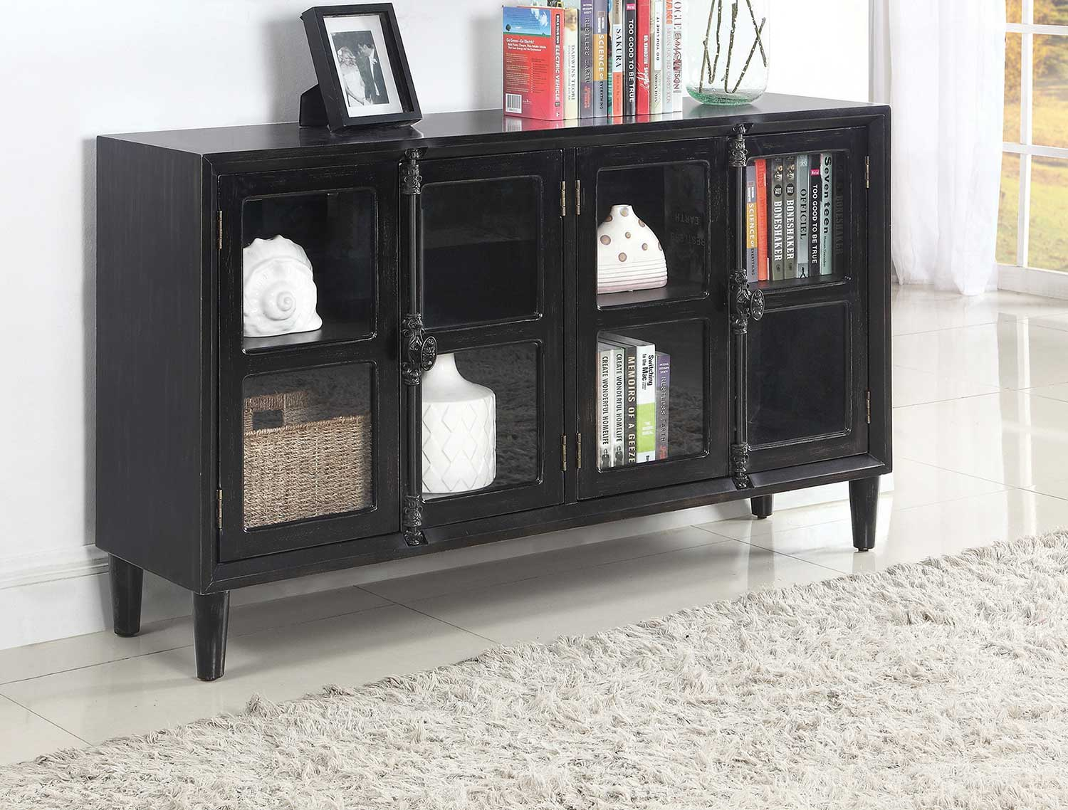 Coaster 950780 Accent Cabinet - Black