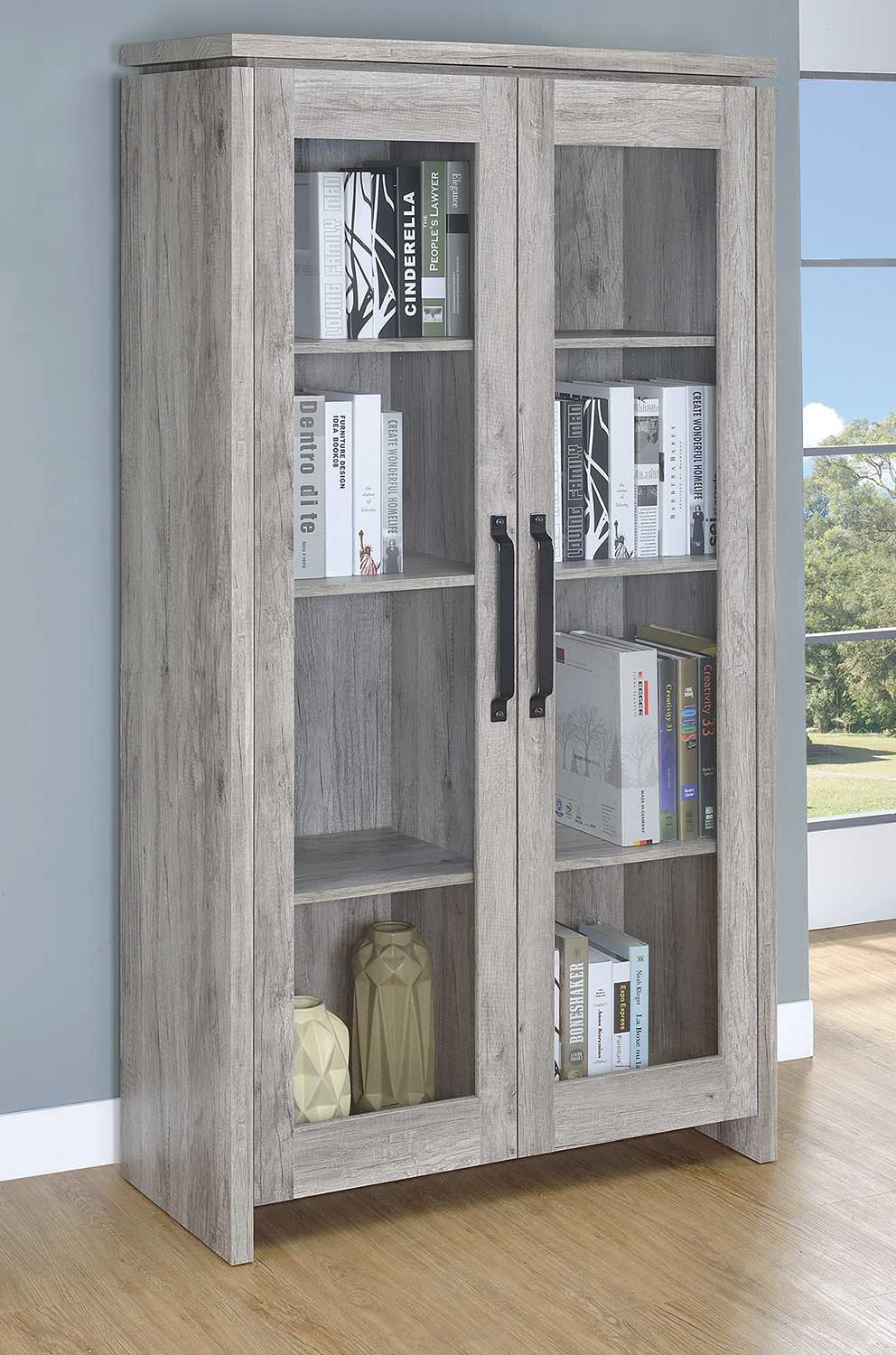 Coaster 950783 Tall Cabinet - Rustic Grey