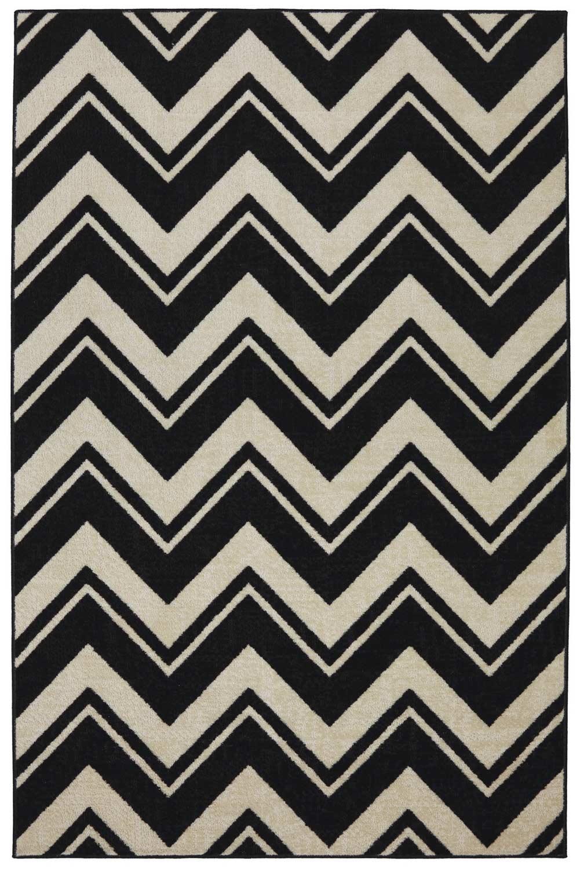 Coaster 970105 Black Stripe Rug (S)