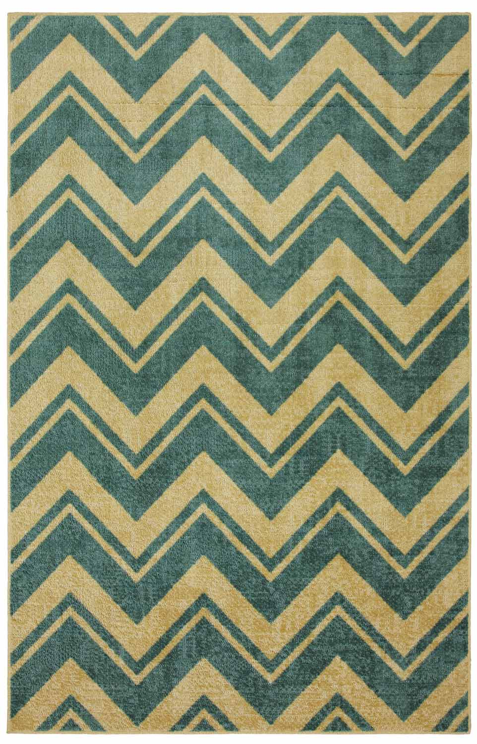 Coaster 970106L Medium Blue Stripe Rug (L)