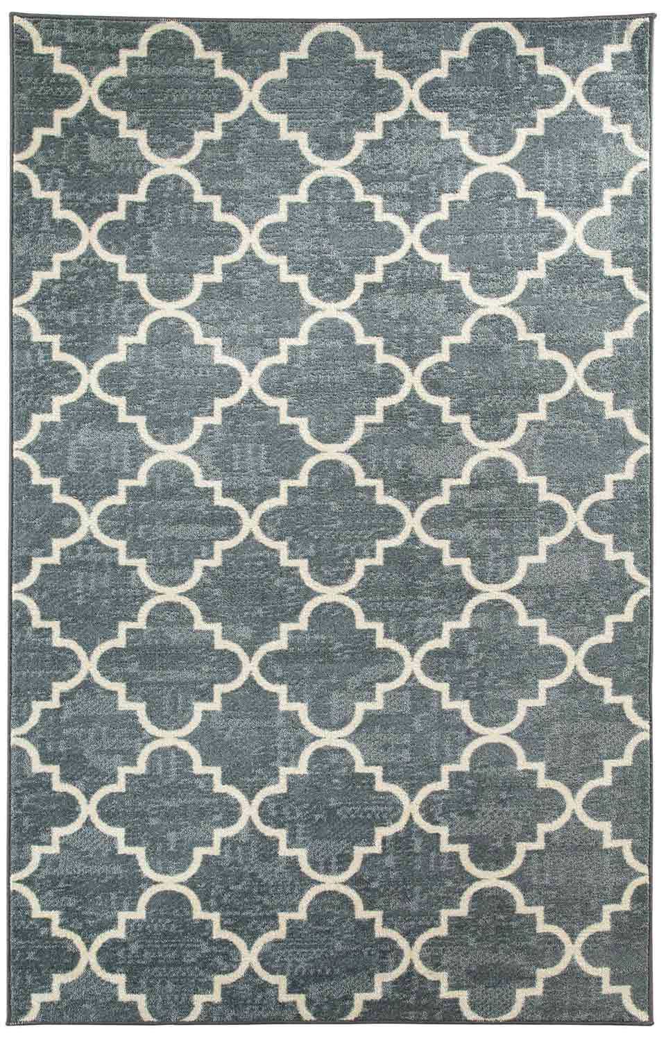 Coaster 970111L Fancy Trellis Gray Rug (L)