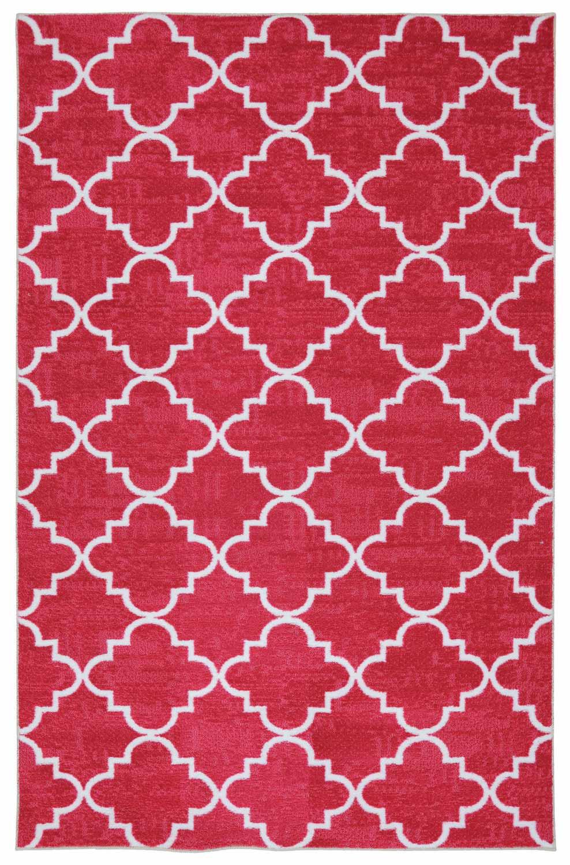 Coaster 970112 Fancy Trellis Pink Rug (S)