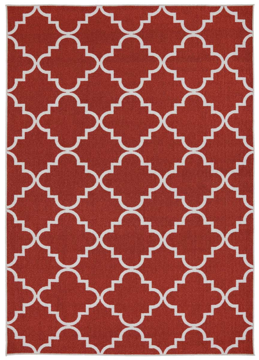 Coaster 970114L Fancy Trellis Spice Rug (L)