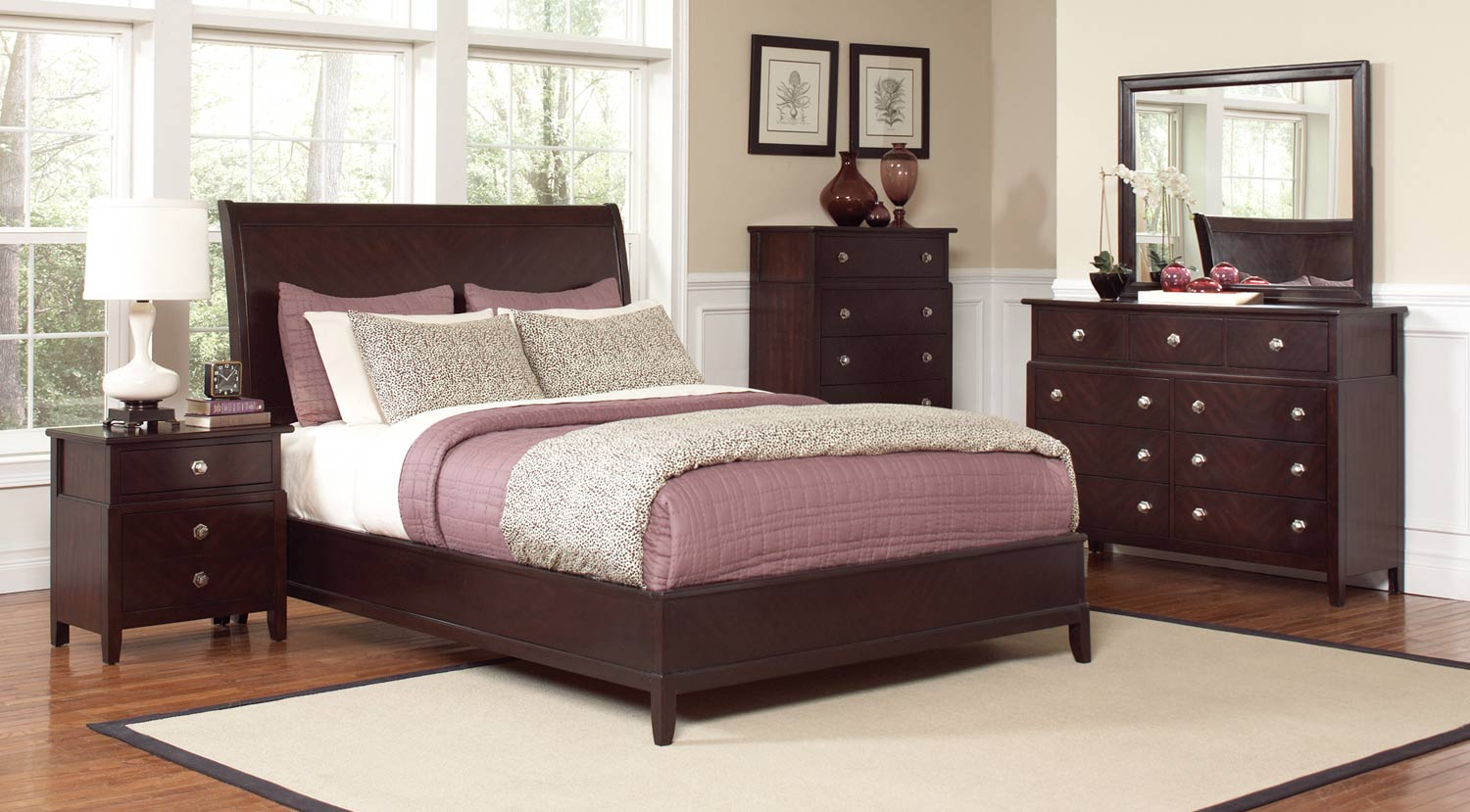 Coaster Albright Bedroom Set - Cherry