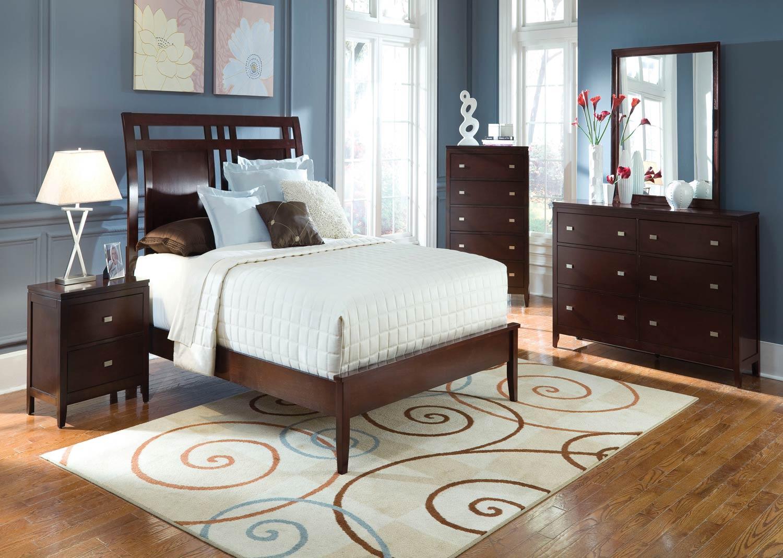 Coaster Calvin Bedroom Set Cappuccino B205 Bed Set