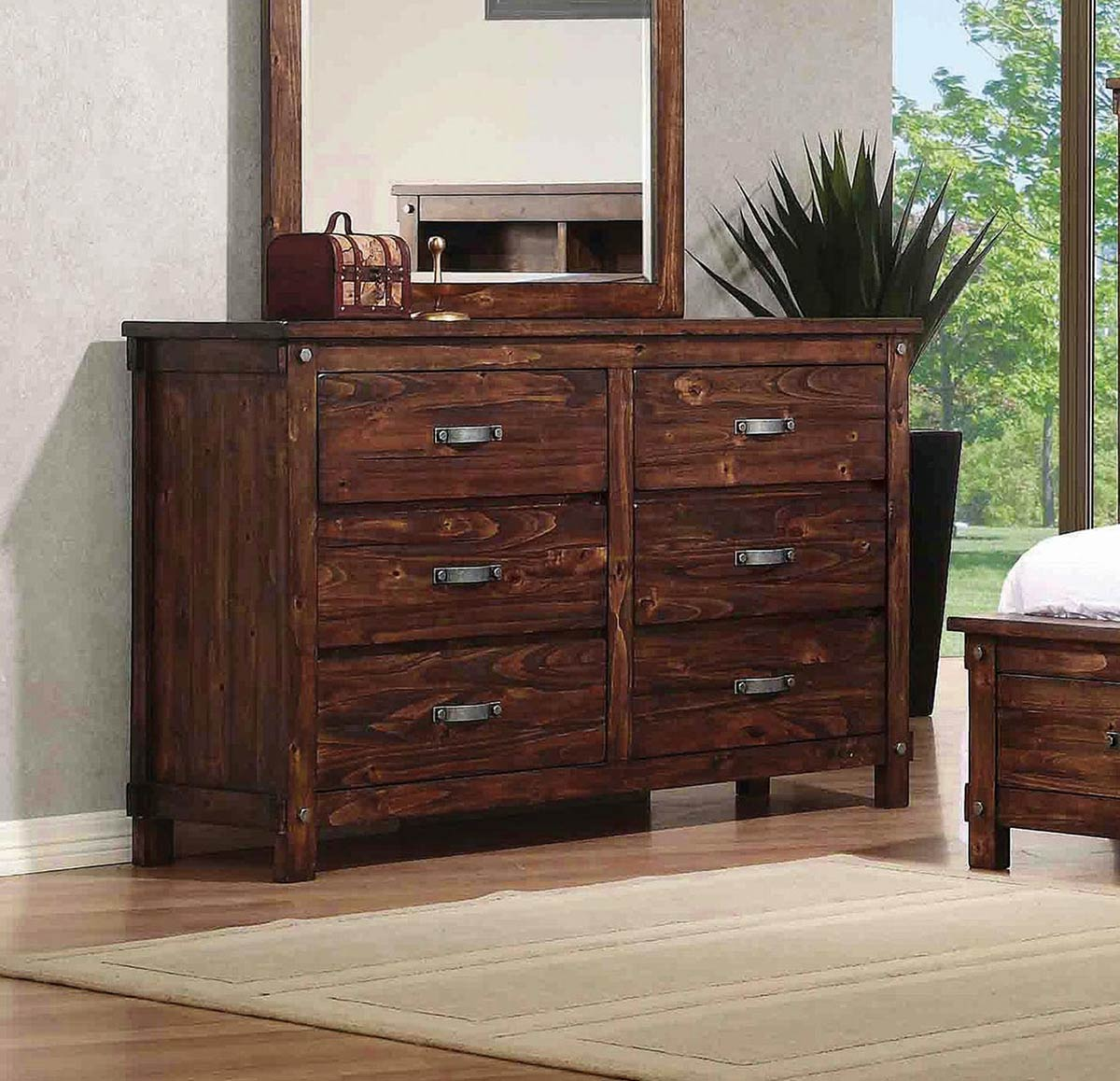 Coaster Noble Dresser - Rustic Oak