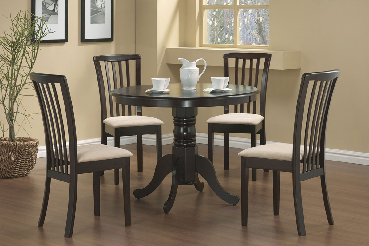 Coaster Brannan Round Pedestal Dining Set - Cappucino