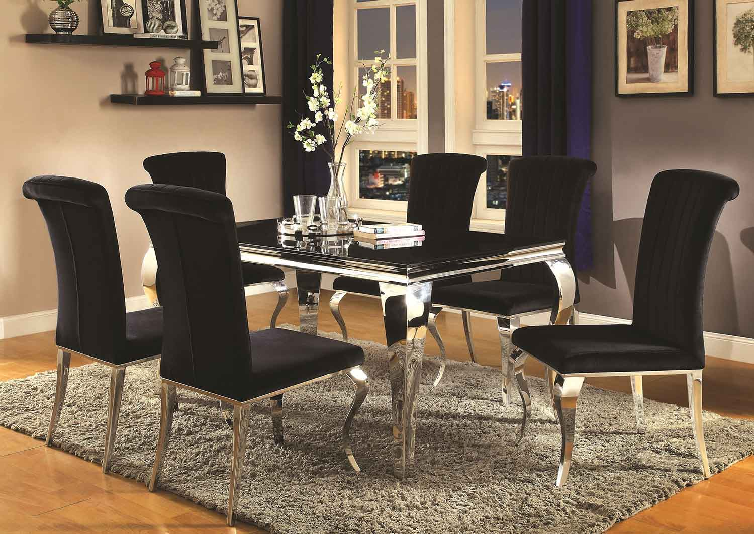 Coaster Carone Rectangular Dining Set - Metal