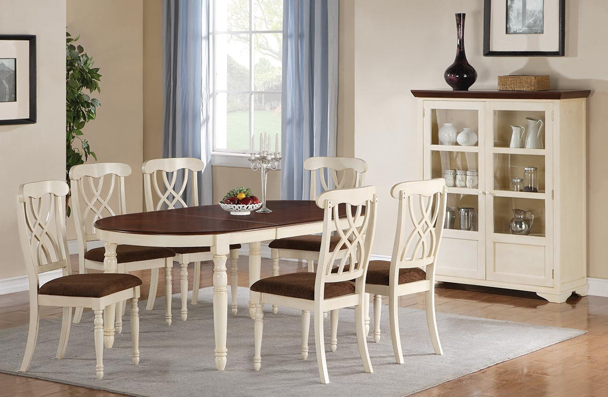 Coaster Cameron Oval dining set