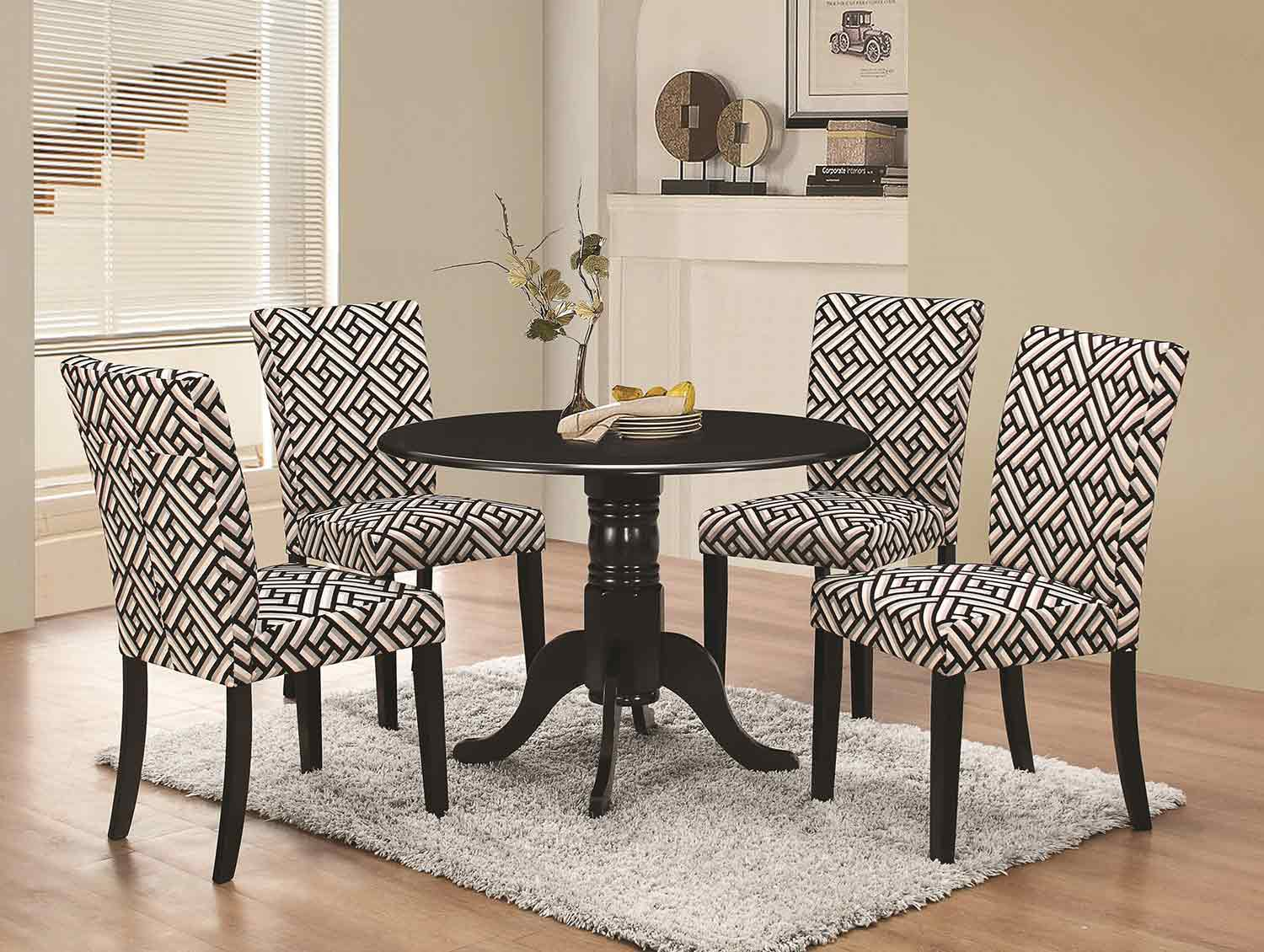 Coaster Dorsett Round Dining Set - Black