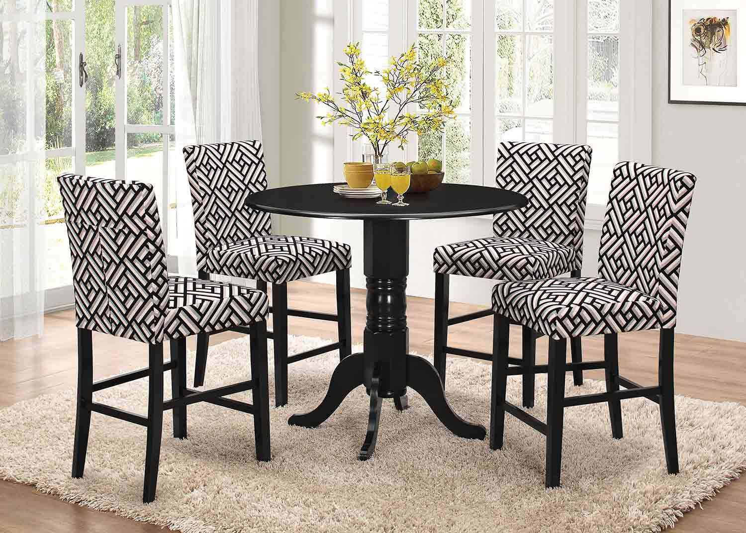 Coaster Dorsett Round Counter Height Dining Set