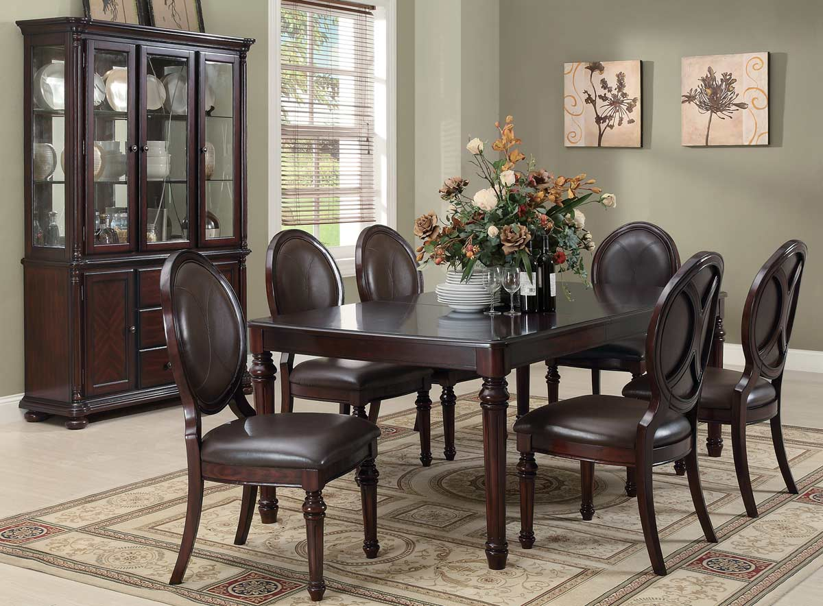 Coaster Davina Dining Set - Brown Cherry